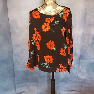 Floral Blouse by Express, Size Large